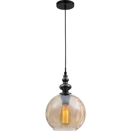 Подвесной светильник Toplight Ida TL1172H-01AB, 1xE27x40W, черный, янтарь, металл, стекло