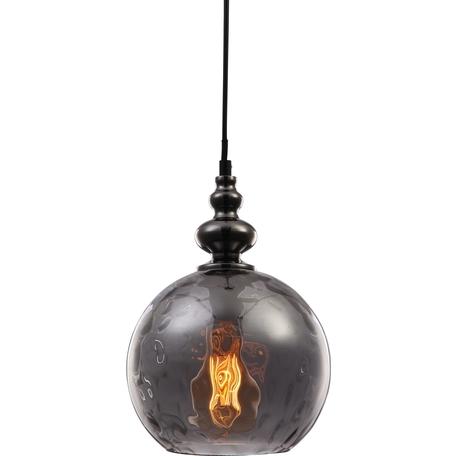 Подвесной светильник Toplight Ida TL1172H-01SM, 1xE27x40W, черный, дымчатый, металл, стекло