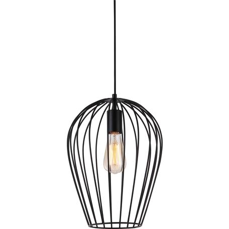 Подвесной светильник Toplight Kayla TL1174H-01BK, 1xE27x40W, черный, металл