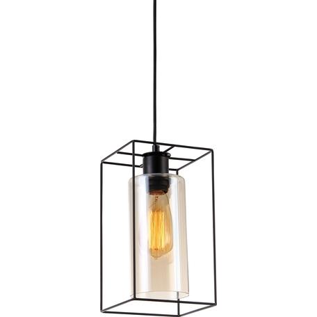Подвесной светильник Toplight Robyn TL1176H-01BK, 1xE27x40W, черный, коричневый, металл, стекло с металлом