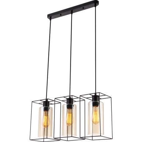 Подвесной светильник Toplight Robyn TL1176H-03BK, 3xE27x40W, черный, коричневый, металл, стекло с металлом