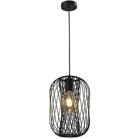Подвесной светильник Toplight Debra TL1189H-01BK, 1xE27x60W, черный, металл