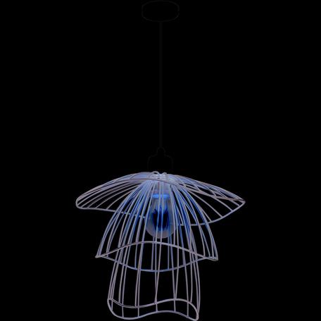 Подвесной светильник Toplight Phebe TL1192H-01SL, 1xE27x60W, черный, серебро, металл