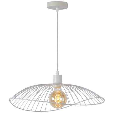 Подвесной светильник Toplight Agnes TL1196H-01WH, 1xE27x60W, белый, металл