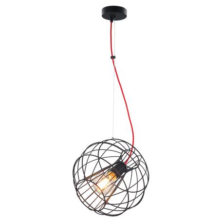 Подвесной светильник Toplight Serena TL1200H-01BK, 1xE27x60W, черный, металл