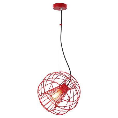 Подвесной светильник Toplight Serena TL1200H-01RD, 1xE27x60W, красный, металл