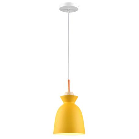 Подвесной светильник Toplight Marylou TL1202H-01YE, 1xE27x40W, белый, желтый, металл