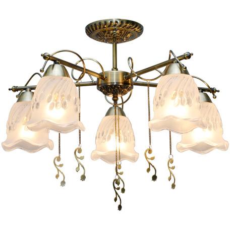 Потолочная люстра Toplight Delia TL1195X-05AB, 5xE14x40W, бронза, прозрачный, металл, стекло