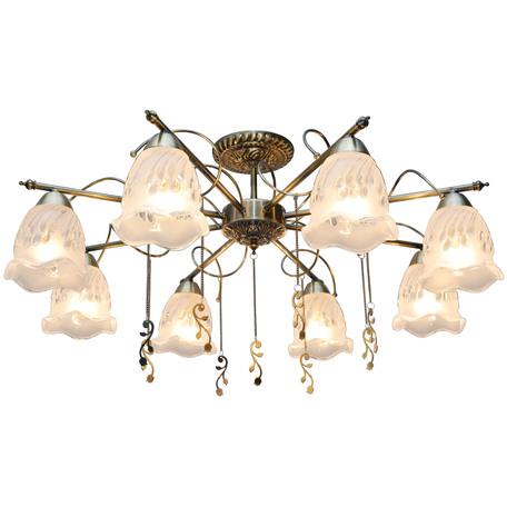 Потолочная люстра Toplight Delia TL1195X-08AB, 8xE14x40W, бронза, прозрачный, металл, стекло