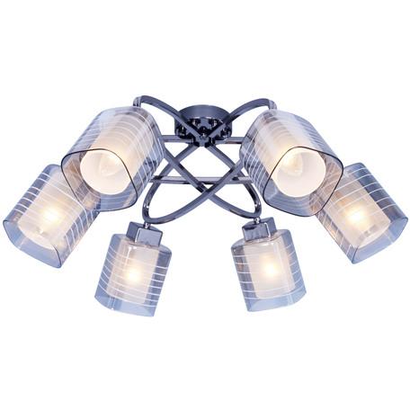 Потолочная люстра Toplight Wendy TL1198X-06BC, 6xE14x40W, черный, прозрачный, металл, стекло