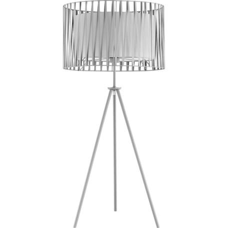 Торшер Toplight Chloe TL1186S-01WH, 1xE27x40W, серый, белый, металл, текстиль