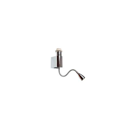 Основание настенного светильника с дополнительной подсветкой Azzardo Amadeo AZ2418, 1xE27x40W + LED 3W, хром, металл