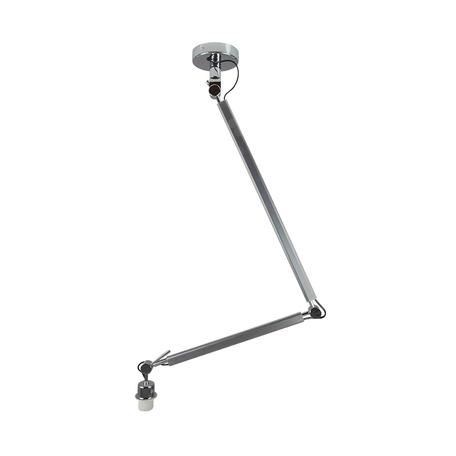 Основание потолочного светильника на складной штанге Azzardo Zyta AZ2298, 1xE27x60W, серебро, хром, металл