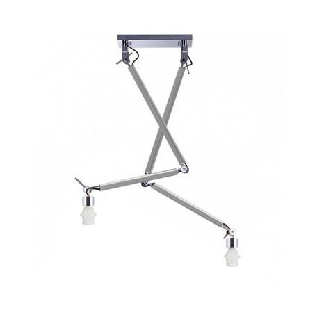 Основание потолочного светильника на складной штанге Azzardo Zyta AZ2301, 2xE27x60W, серебро, хром, металл