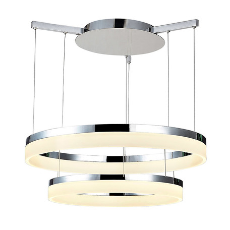 Подвесной светодиодный светильник Azzardo Zola AZ2560, LED 56W 5600lm, хром, металл, пластик