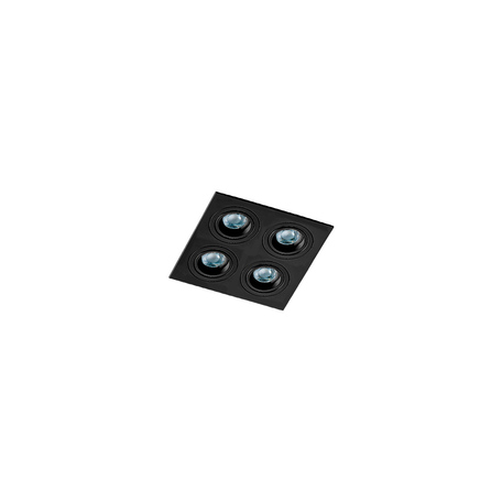 Встраиваемый светильник Azzardo Caro AZ2443, 4xGU10x40W, черный, металл