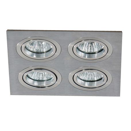 Встраиваемый светильник Azzardo Caro AZ2444, 4xGU10x40W, серебро, металл