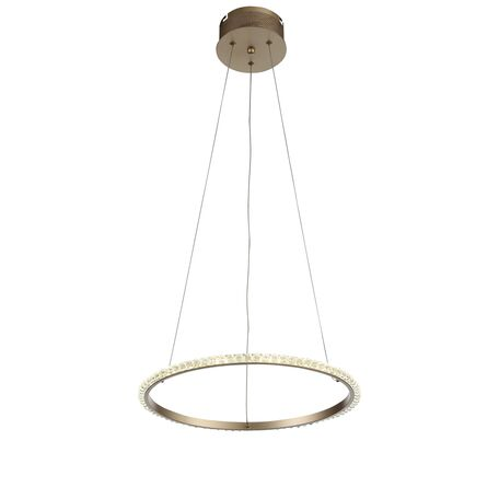Подвесной светодиодный светильник ST Luce Sorano SL1501.203.01, IP21, LED 12W 4000K 1088lm, матовое золото, прозрачный, металл, хрусталь