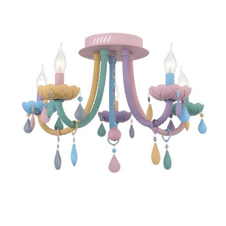 Потолочная люстра ST Luce Fiata SL1700.782.05, 5xE14x40W, разноцветный, стекло