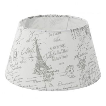 Абажур Eglo 1+1 Vintage 49964, серый, текстиль