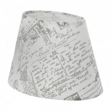 Абажур Eglo 1+1 Vintage 49965, серый, текстиль