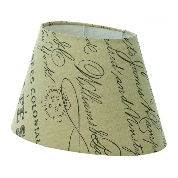 Абажур Eglo 1+1 Vintage 49986, бежевый, текстиль