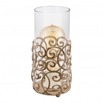 Настольная лампа Eglo Trend & Vintage Ethno Elegance Cardigan 49274, 1xE27x60W, коричневый, прозрачный, металл, стекло