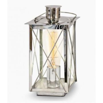 Настольная лампа Eglo Donmington 49279, 1xE27x60W, хром, прозрачный, металл, стекло