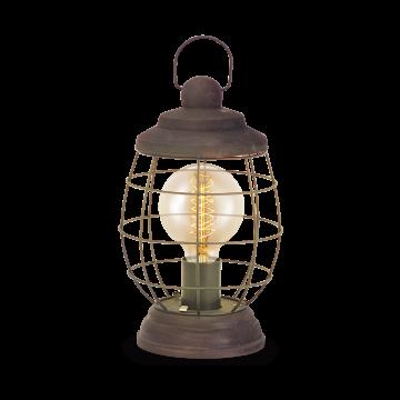 Настольная лампа Eglo Bampton 49288, 1xE27x60W, коричневый, металл
