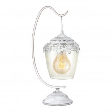 Настольная лампа Eglo Trend & Vintage Ethno Elegance Sudbury 49293, 1xE27x60W, белый, прозрачный, металл, металл со стеклом
