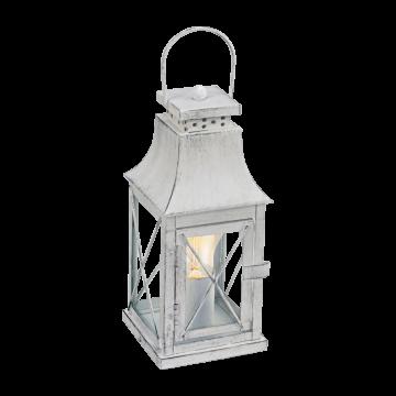 Настольная лампа Eglo Lisburn 49294, 1xE27x60W, серый, прозрачный, металл, стекло