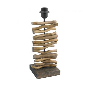 Основание настольной лампы Eglo Seahouse 49754, 1xE27x60W, коричневый, дерево