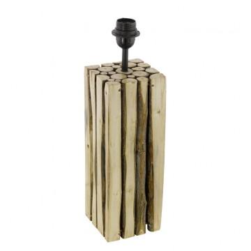 Основание настольной лампы Eglo Ribadeo 49831, 1xE27x60W, коричневый, черный, дерево, металл