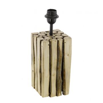 Основание настольной лампы Eglo Ribadeo 49832, 1xE27x60W, коричневый, черный, дерево, металл