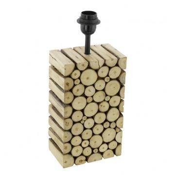 Основание настольной лампы Eglo Ribadeo 49833, 1xE27x60W, коричневый, черный, дерево, металл