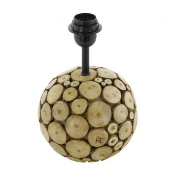 Основание настольной лампы Eglo Ribadeo 49834, 1xE27x60W, коричневый, черный, дерево, металл