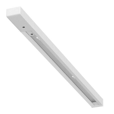 Шинопровод в сборе с питанием и заглушкой Arte Lamp A540233, белый, металл