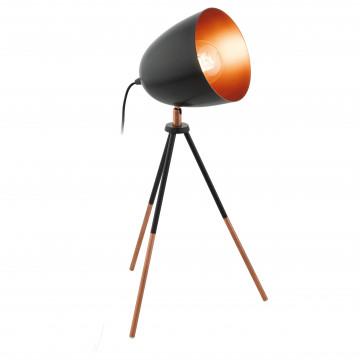 Настольная лампа Eglo Trend & Vintage Loft Chester 49385, 1xE27x60W, медь, черный, металл