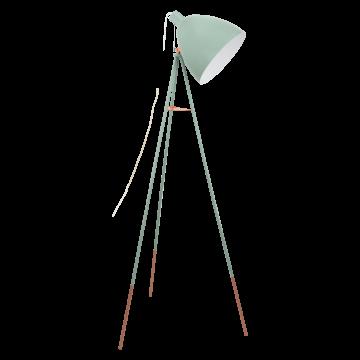 Торшер Eglo Dundee 49342, 1xE27x60W, зеленый, металл