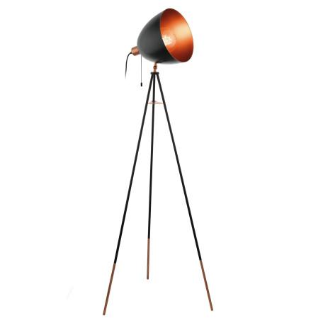 Торшер Eglo Trend & Vintage Loft Chester 49386, 1xE27x60W, медь, черный, металл