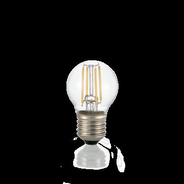 Филаментная светодиодная лампа Ideal Lux LAMPADINA CLASSIC E27 4W SFERA TRASP 3000K DIMM 188942 шар E27 4W (теплый), диммируемая