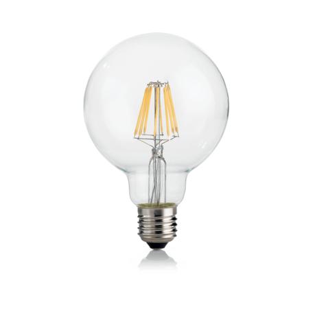Филаментная светодиодная лампа Ideal Lux LAMPADINA CLASSIC E27 8W GLOBO D95 TRASP 3000K DIM 188966 E27 8W (теплый), диммируемая