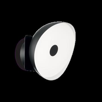 Настенный светодиодный светильник Ideal Lux BARBY AP1 MEDIUM 190815, LED 18W, 4000K (дневной), черный, белый, металл, пластик