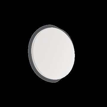 Настенный светодиодный светильник Ideal Lux COVER AP D15 ROUND BIANCO 195704 (COVER AP1 ROUND SMALL BIANCO), LED 9W 3000K 943lm, белый, металл, пластик