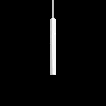 Подвесной светодиодный светильник Ideal Lux ULTRATHIN D040 SQUARE BIANCO 194189 (ULTRATHIN SP1 SMALL SQUARE BIANCO), LED 12W 3000K 760lm, белый, металл - миниатюра 1