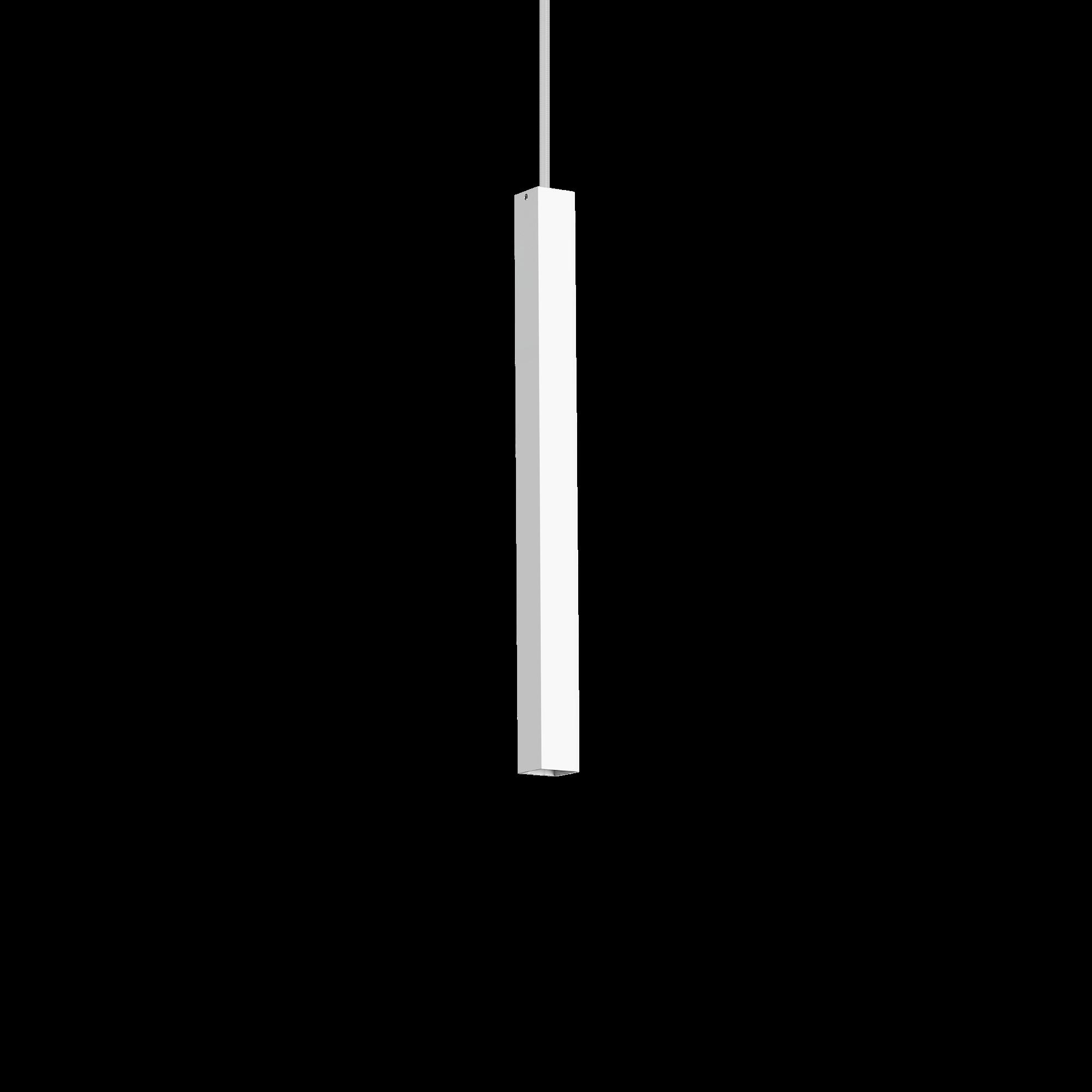 Подвесной светодиодный светильник Ideal Lux ULTRATHIN D040 SQUARE BIANCO 194189 (ULTRATHIN SP1 SMALL SQUARE BIANCO), LED 12W 3000K 760lm, белый, металл - фото 1