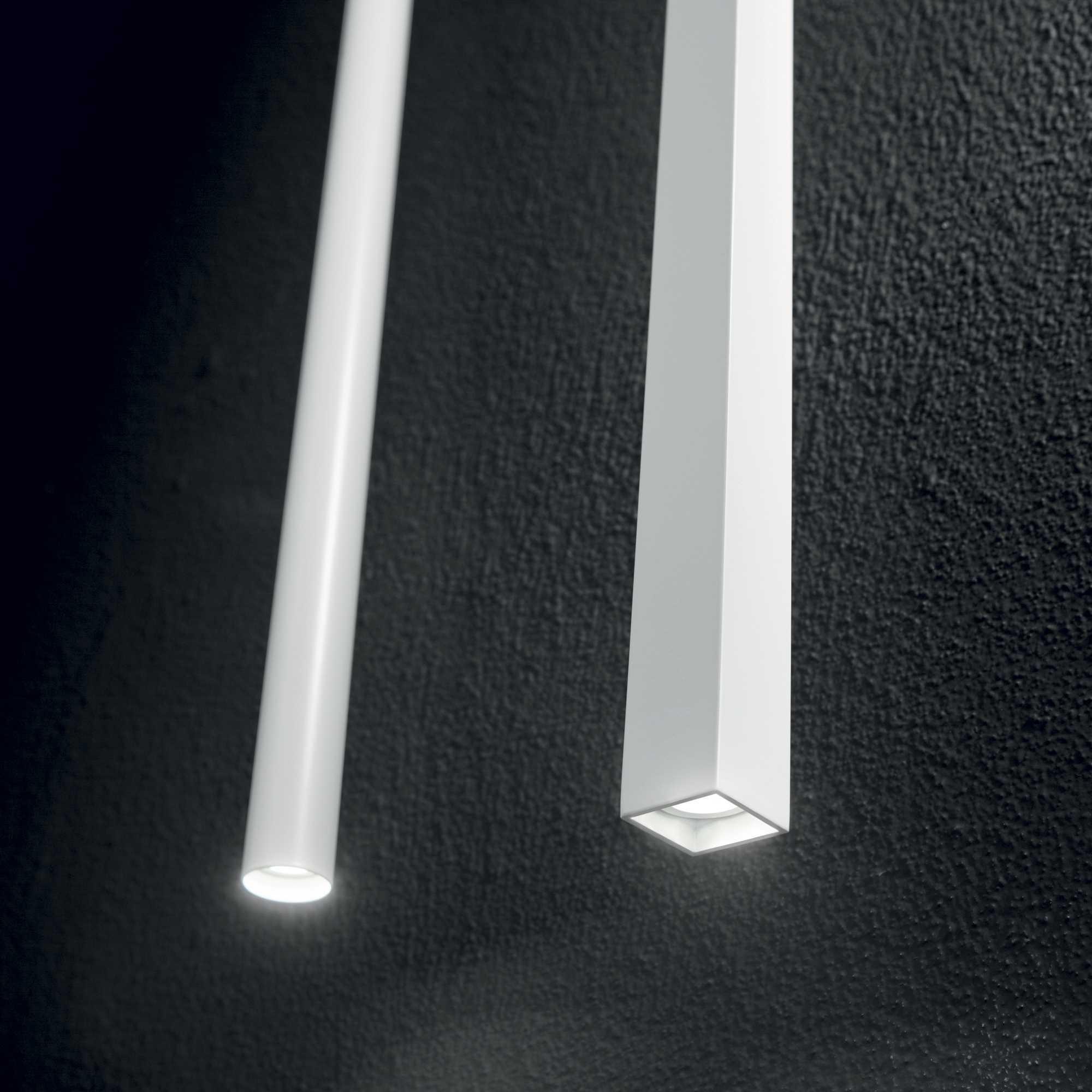 Подвесной светодиодный светильник Ideal Lux ULTRATHIN D040 SQUARE BIANCO 194189 (ULTRATHIN SP1 SMALL SQUARE BIANCO), LED 12W 3000K 760lm, белый, металл - фото 2