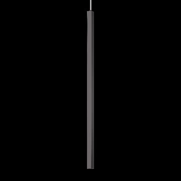 Подвесной светодиодный светильник Ideal Lux ULTRATHIN D100 SQUARE NERO 194196 (ULTRATHIN SP1 BIG SQUARE NERO), LED 12W 3000K 760lm, черный, металл