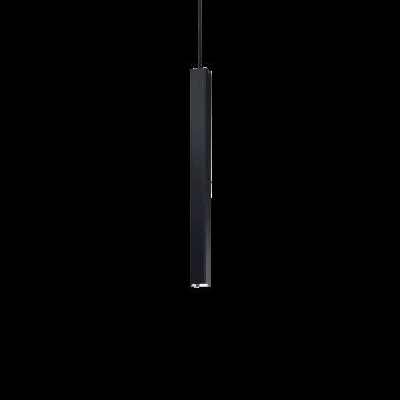Подвесной светодиодный светильник Ideal Lux ULTRATHIN D040 SQUARE NERO 194202 (ULTRATHIN SP1 SMALL SQUARE NERO), LED 12W 3000K 760lm, черный, металл