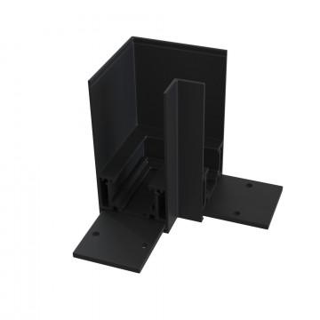 L-образный соединитель для магнитного шинопровода Maytoni TRA004CL-21B, черный, металл